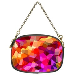 Geometric Fall Pattern Chain Purses (two Sides)  by DanaeStudio