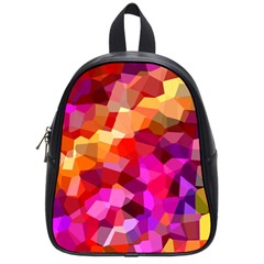 Geometric Fall Pattern School Bags (small)