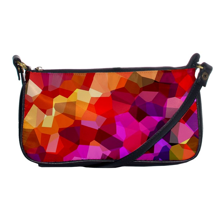 Geometric Fall Pattern Shoulder Clutch Bags