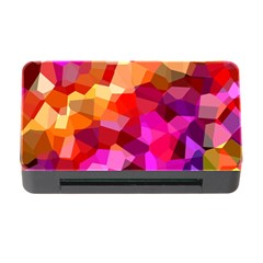 Geometric Fall Pattern Memory Card Reader With Cf by DanaeStudio