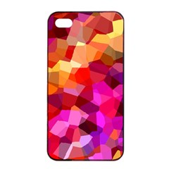 Geometric Fall Pattern Apple Iphone 4/4s Seamless Case (black) by DanaeStudio