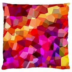 Geometric Fall Pattern Large Cushion Case (one Side) by DanaeStudio