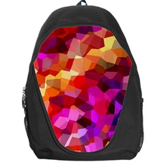 Geometric Fall Pattern Backpack Bag by DanaeStudio