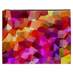 Geometric Fall Pattern Cosmetic Bag (xxxl)