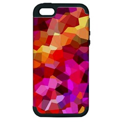 Geometric Fall Pattern Apple Iphone 5 Hardshell Case (pc+silicone) by DanaeStudio