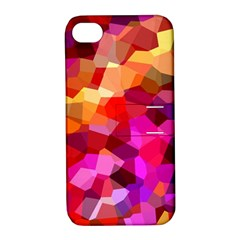 Geometric Fall Pattern Apple Iphone 4/4s Hardshell Case With Stand