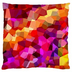 Geometric Fall Pattern Large Flano Cushion Case (two Sides) by DanaeStudio