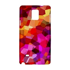 Geometric Fall Pattern Samsung Galaxy Note 4 Hardshell Case by DanaeStudio