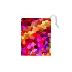 Geometric Fall Pattern Drawstring Pouches (xs)  by DanaeStudio
