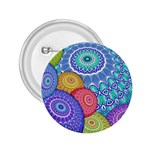 India Ornaments Mandala Balls Multicolored 2.25  Buttons Front