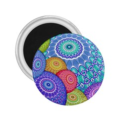 India Ornaments Mandala Balls Multicolored 2 25  Magnets by EDDArt