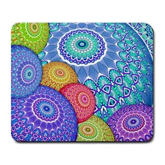 India Ornaments Mandala Balls Multicolored Large Mousepads by EDDArt