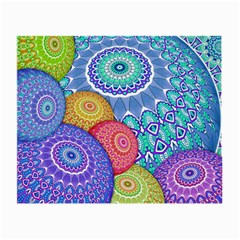 India Ornaments Mandala Balls Multicolored Small Glasses Cloth by EDDArt