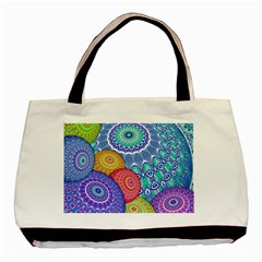 India Ornaments Mandala Balls Multicolored Basic Tote Bag by EDDArt