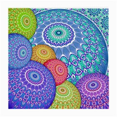 India Ornaments Mandala Balls Multicolored Medium Glasses Cloth by EDDArt