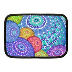 India Ornaments Mandala Balls Multicolored Netbook Case (medium)  by EDDArt