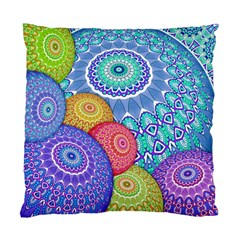 India Ornaments Mandala Balls Multicolored Standard Cushion Case (two Sides) by EDDArt
