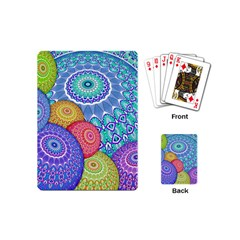 India Ornaments Mandala Balls Multicolored Playing Cards (mini)  by EDDArt