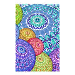 India Ornaments Mandala Balls Multicolored Shower Curtain 48  X 72  (small)  by EDDArt