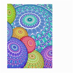 India Ornaments Mandala Balls Multicolored Large Garden Flag (two Sides) by EDDArt