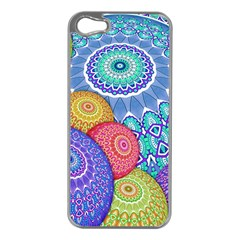 India Ornaments Mandala Balls Multicolored Apple Iphone 5 Case (silver) by EDDArt