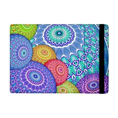India Ornaments Mandala Balls Multicolored Apple Ipad Mini Flip Case by EDDArt