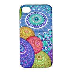 India Ornaments Mandala Balls Multicolored Apple Iphone 4/4s Hardshell Case With Stand by EDDArt
