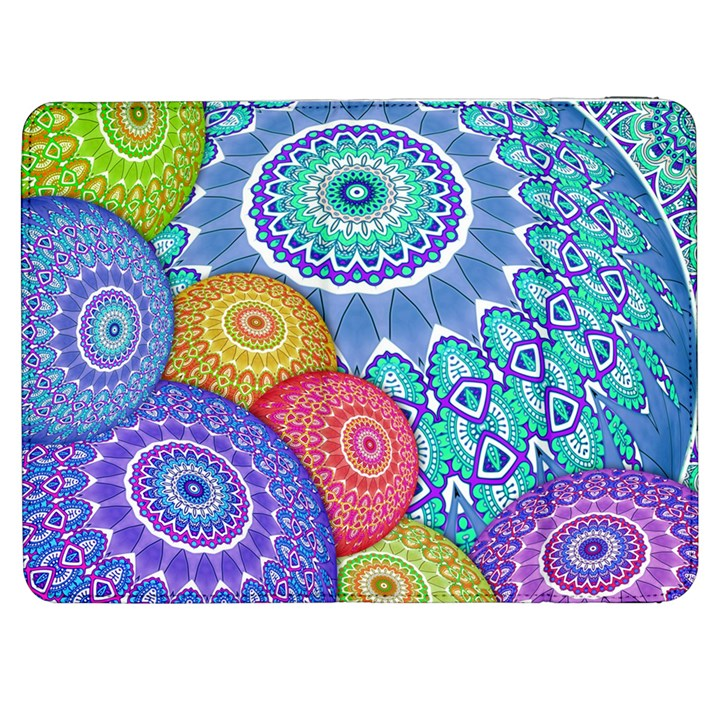 India Ornaments Mandala Balls Multicolored Samsung Galaxy Tab 7  P1000 Flip Case