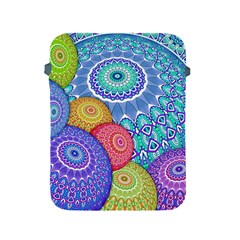India Ornaments Mandala Balls Multicolored Apple Ipad 2/3/4 Protective Soft Cases by EDDArt