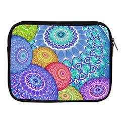 India Ornaments Mandala Balls Multicolored Apple Ipad 2/3/4 Zipper Cases by EDDArt