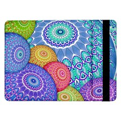 India Ornaments Mandala Balls Multicolored Samsung Galaxy Tab Pro 12 2  Flip Case by EDDArt