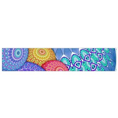 India Ornaments Mandala Balls Multicolored Flano Scarf (small) by EDDArt