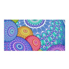 India Ornaments Mandala Balls Multicolored Satin Wrap by EDDArt