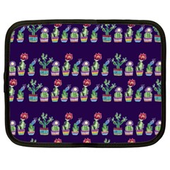 Cute Cactus Blossom Netbook Case (xl)