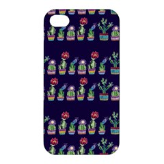 Cute Cactus Blossom Apple Iphone 4/4s Hardshell Case by DanaeStudio