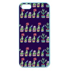 Cute Cactus Blossom Apple Seamless Iphone 5 Case (color) by DanaeStudio