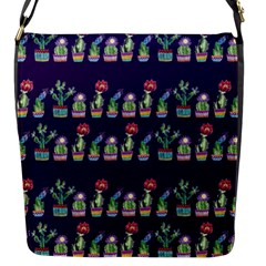 Cute Cactus Blossom Flap Messenger Bag (s)