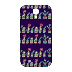 Cute Cactus Blossom Samsung Galaxy S4 I9500/i9505  Hardshell Back Case by DanaeStudio