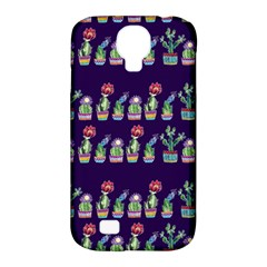 Cute Cactus Blossom Samsung Galaxy S4 Classic Hardshell Case (pc+silicone) by DanaeStudio