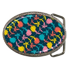 Colorful Floral Pattern Belt Buckles