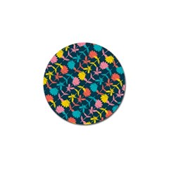 Colorful Floral Pattern Golf Ball Marker (4 Pack) by DanaeStudio