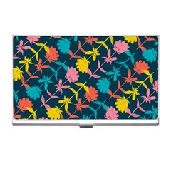 Colorful Floral Pattern Business Card Holders