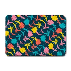 Colorful Floral Pattern Small Doormat  by DanaeStudio