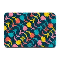 Colorful Floral Pattern Plate Mats by DanaeStudio
