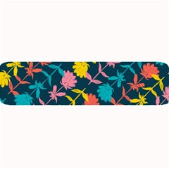 Colorful Floral Pattern Large Bar Mats by DanaeStudio