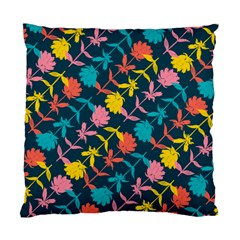 Colorful Floral Pattern Standard Cushion Case (one Side) by DanaeStudio