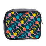 Colorful Floral Pattern Mini Toiletries Bag 2-Side Back