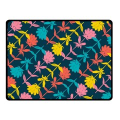 Colorful Floral Pattern Fleece Blanket (small) by DanaeStudio