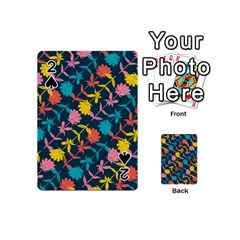 Colorful Floral Pattern Playing Cards 54 (mini)  by DanaeStudio