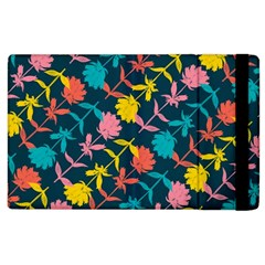 Colorful Floral Pattern Apple Ipad 2 Flip Case by DanaeStudio